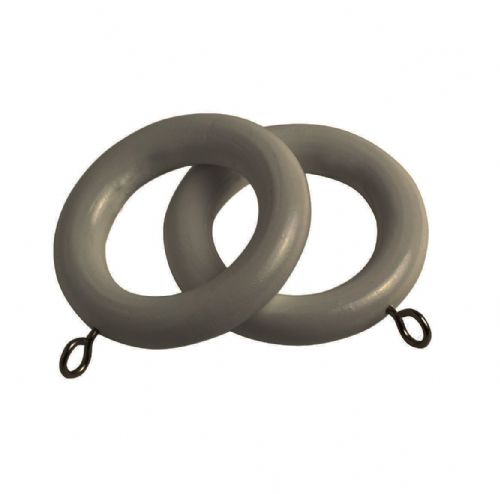 Speedy County 28mm Wooden Curtain Rings (Pack of 4) - Urban Grey